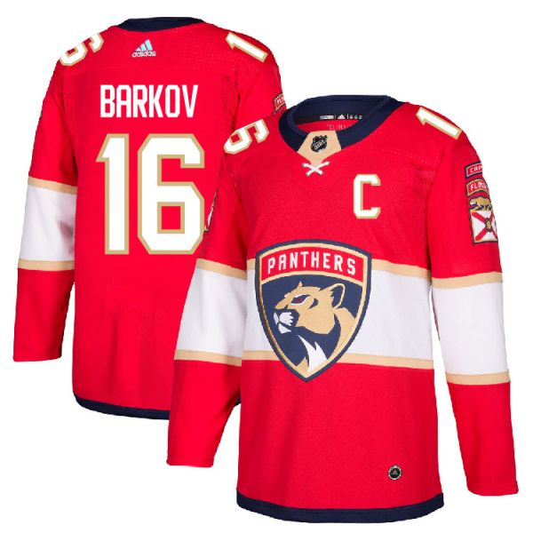 online store ae581 75165 Pro Customized - #16 C Aleksander Barkov - Adidas Authentic Florida  Panthers Jersey - Home