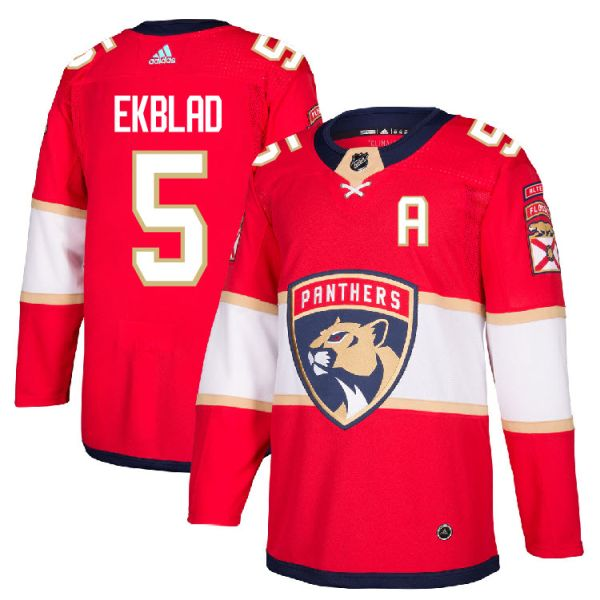 hot sale online 39f79 2d47b Pro Customized - #5 A Aaron Ekblad - Adidas Authentic Florida Panthers  Jersey - Home