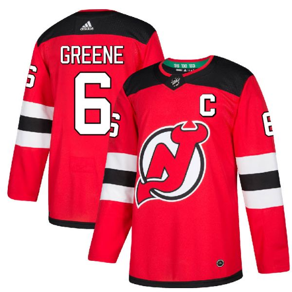 quality design 4c8e2 5368d Pro Customized - #6 C Andy Greene - Adidas Authentic New Jersey Devils  Jersey - Home