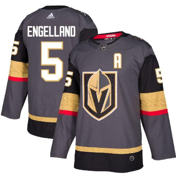 half off 7203f 3892b Pro Customized - #5 A Deryk Engelland - Adidas Authentic Vegas Golden  Knights Jersey - Home
