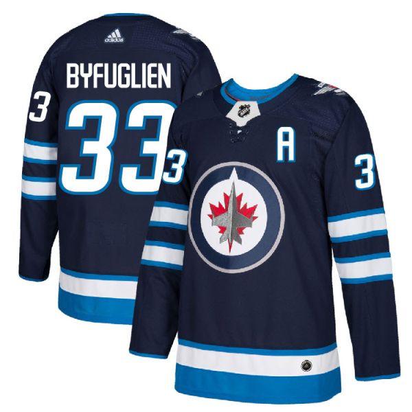 new concept 62522 7e0c0 Pro Customized - #33 A Dustin Byfuglien - Adidas Authentic Winnipeg Jets  Jersey - Home