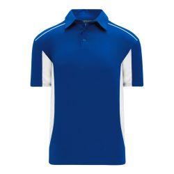 A1825 Apparel Polo Shirt - Royal/White