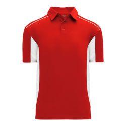 A1825 Apparel Polo Shirt - Red/White