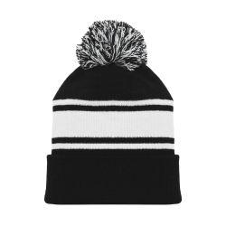 A1830 Hockey Toque - Black/White