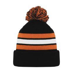 A1830 Hockey Toque - Black/White/Orange