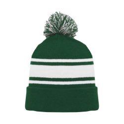 A1830 Hockey Toque - Dark Green/White