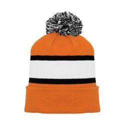 A1830 Hockey Toque - Orange/Black/White