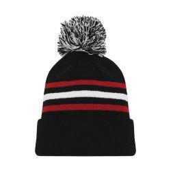 A1830 Hockey Toque - New Chicago 3Rd Black