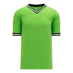 BA1333 Pullover Baseball Jersey - Lime Green/Black/White