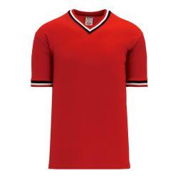 BA1333 Pullover Baseball Jersey - Red/Black/White