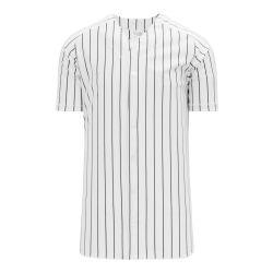 BA524 Full Button Baseball Jersey - White/Black