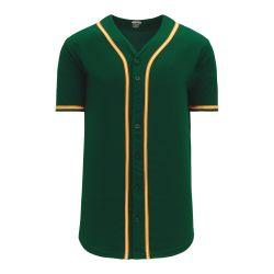 BA5500 Full Button Baseball Jersey - Oakland Dark Green/Gold/White