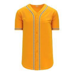 BA5500 Full Button Baseball Jersey - Oakland Gold/White/Dark Green