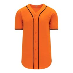 BA5500 Full Button Baseball Jersey - San Fransisco Orange/Black