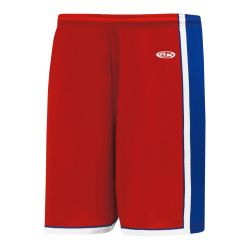 BS1735 Pro Basketball Shorts - Red/Royal/White