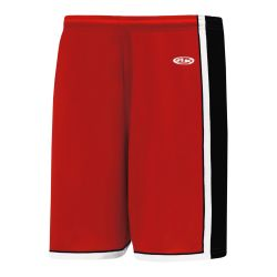 BS1735 Pro Basketball Shorts - Red/Black/White