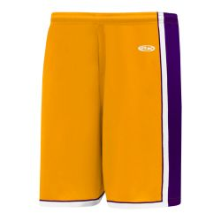 BS1735 Pro Basketball Shorts - Gold/Purple/White
