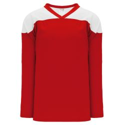 H6100 League Hockey Jersey - Red/White