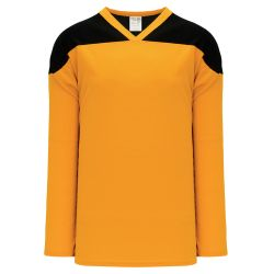 H6100 League Hockey Jersey - Gold/Black