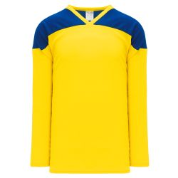 H6100 League Hockey Jersey - Maize/Royal