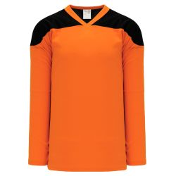 H6100 League Hockey Jersey - Orange/Black