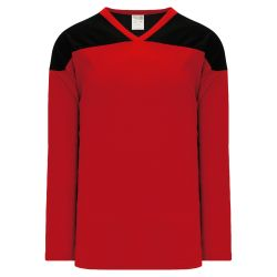 H6100 League Hockey Jersey - Red/Black