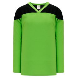 H6100 League Hockey Jersey - Lime Green/Black