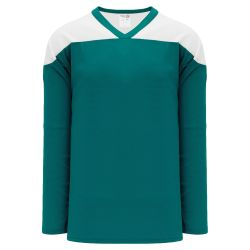 H6100 League Hockey Jersey - Pacific Teal/White