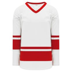 H6400 League Hockey Jersey - White/Red