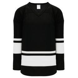H6400 League Hockey Jersey - Black/White