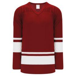 H6400 League Hockey Jersey - Av Red/White