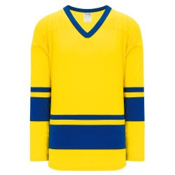 H6400 League Hockey Jersey - Maize/Royal