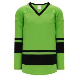 H6400 League Hockey Jersey - Lime Green/Black