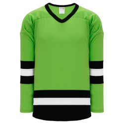 H6500 League Hockey Jersey - Lime Green/Black/White