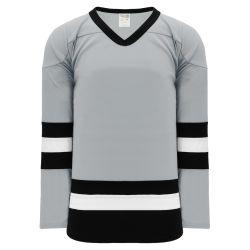 H6500 League Hockey Jersey - Grey/Black/White