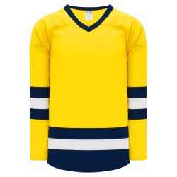 H6500 League Hockey Jersey - Maize/White/Navy