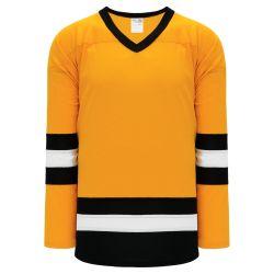 H6500 League Hockey Jersey - Gold/White/Black