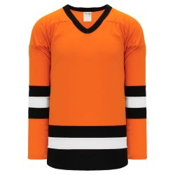 H6500 League Hockey Jersey - Orange/Black/White
