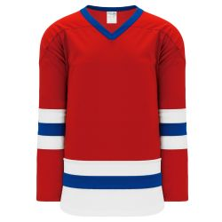 H6500 League Hockey Jersey - Red/Royal/White