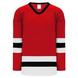 H6500 League Hockey Jersey - Red/Black/White