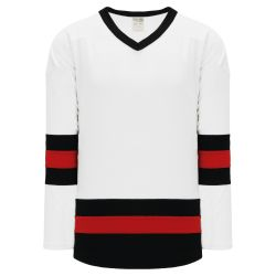 H6500 League Hockey Jersey - White/Black/Red