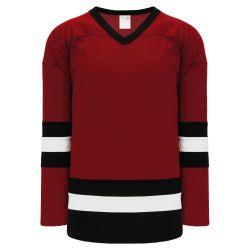 H6500 League Hockey Jersey - Av Red/Black/White