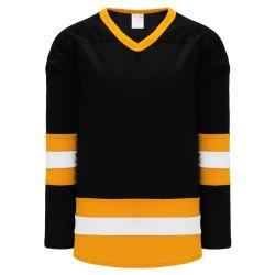 H6500 League Hockey Jersey - Black/White/Gold