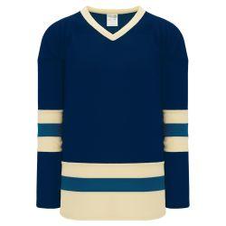 H6500 League Hockey Jersey - Navy/Sand/Capital