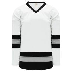 H6500 League Hockey Jersey - White/Black/Grey