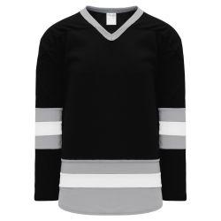 H6500 League Hockey Jersey - Black/Grey/White