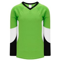 H6600 League Hockey Jersey - Lime Green/Black/White