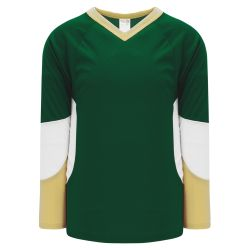 H6600 League Hockey Jersey - Dark Green/Vegas/White