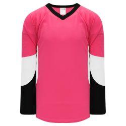 H6600 League Hockey Jersey - Pink/White/Black