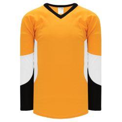 H6600 League Hockey Jersey - Gold/White/Black